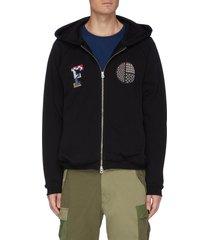 circle sashiko full zip hoodie