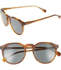 men's raen 'remmy' 52mm sunglasses - split finish rootbeer