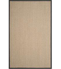 safavieh natural fiber natural and dark gray 5' x 8' sisal weave rug