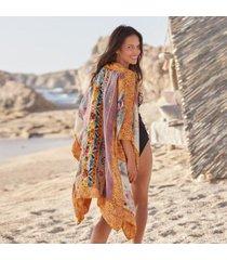 sundance catalog women's raelyn kimono in yellow