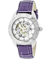 empress godiva automatic lavender leather watch 38mm