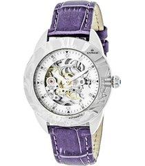 empress godiva automatic lavender leather watch 38mm