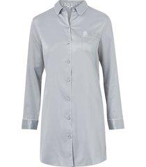 pyjamasskjorta i satin med lång ärm
