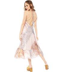vestido pippa udai multicolor - calce holgado