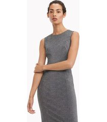 tommy hilfiger women's essential sleeveless shimmer dress silver - 2