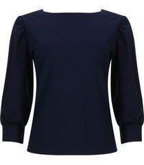 blusa con botones en espalda color azul, talla 12