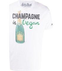 mc2 saint barth vegan champagne t-shirt - white