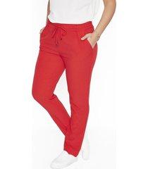pantalon pierna pitillo liso rojo lorenzo di pontti