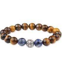bespoke men's tiger eye bracelet