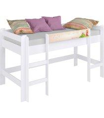 cama infantil elevada s/ escorregador completa móveis rosa