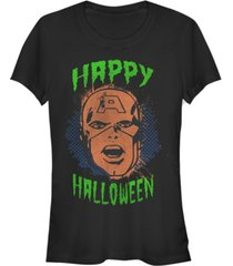 fifth sun marvel women's captain america retro happy halloween short sleeve tee shirt