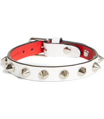 women's christian louboutin loubilink studded leather bracelet