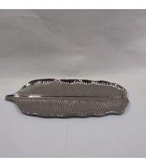 bandeja de cerâmica em formato de folha