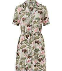 skjortklänning onlnova lux s/s button dress aop wvn