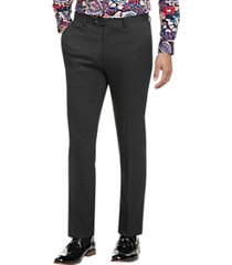 paisley & gray slim fit suit separates dress pants charcoal plaid