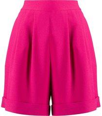 hebe studio plain wide leg shorts - pink