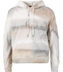 anti 666 logo hooded sweatshirt, cloud beige