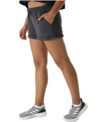 shorts de moletom oxer dalila fit - feminino - cinza escuro