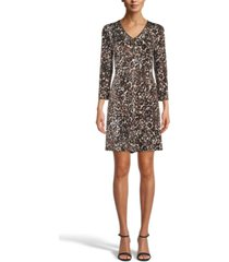 anne klein gabriella printed a-line dress