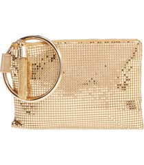 whiting & davis bangle wristlet - metallic