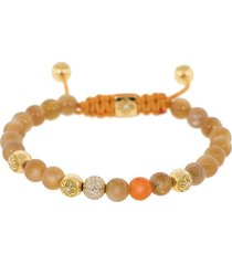 diamond and orange carnelian bracelet