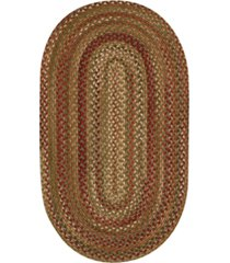 capel homecoming oval braid 7' x 9' area rug