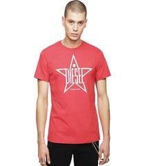polera t diego yh t shirt 42a rojo diesel