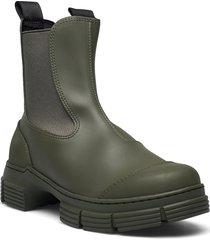 recycled rubber regnstövlar skor grön ganni