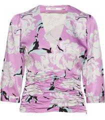 gwin blouse ms19 blouse lange mouwen roze gestuz