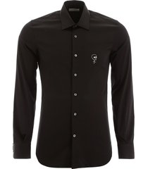 alexander mcqueen shirt with skull embroidery