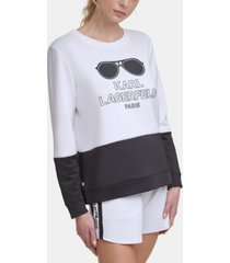 karl lagerfeld paris colorblock sunglass sweatshirt
