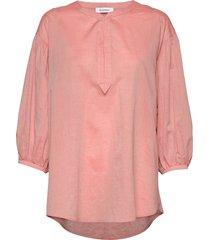 rodebjer sakina blouse lange mouwen roze rodebjer