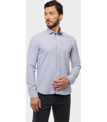 camisa casual texturada diseño azul arrow