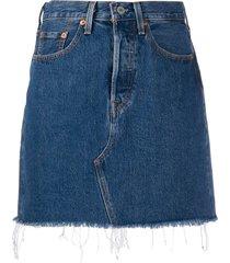 levi's deconstructed high-rise denim skirt - blue