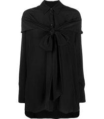 simone rocha hanging detail cape shirt - black
