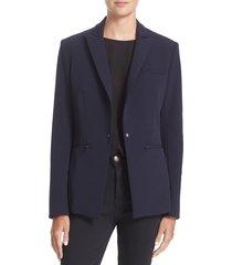 women's veronica beard scuba jacket, size 4 - blue