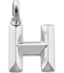 alphabet pendant h, sterling silver