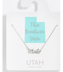 maurices womens dainty utah necklace gray