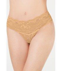 hanky panky women's american beauty flower lace thong 1c1511