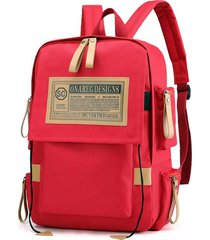 mochilas escolares vintage oxford laptop backpack college school mochila