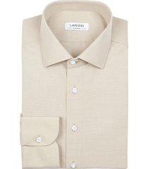 camicia da uomo su misura, grandi & rubinelli, eco beige, quattro stagioni