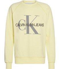 sweater vegetable monogram amarillo calvin klein