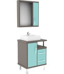 conjunto de banheiro são joão lótus, ópera e verde, 60 cm