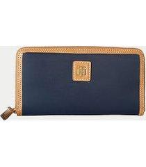 tommy hilfiger women's zip wallet tommy navy -