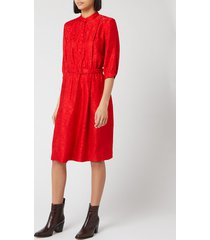 a.p.c. women's marion shirt dress - red - fr 38/uk 10