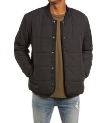 men's topman men's square quilted jacket, size x-small - black
