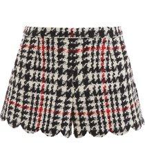 red valentino maxi houndstooth shorts