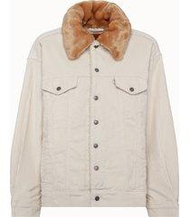 levis giacca in velluto a coste e pelliccia
