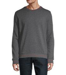 hugo hugo boss men's stretch-cotton sweatshirt - grey - size xs