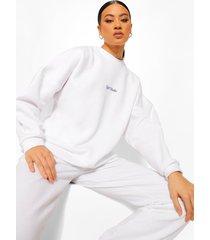 official oversized geborduurde sweater, white